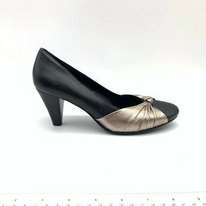 ECCO Womens Knotted Front Pump Shoes Black 7/7.5